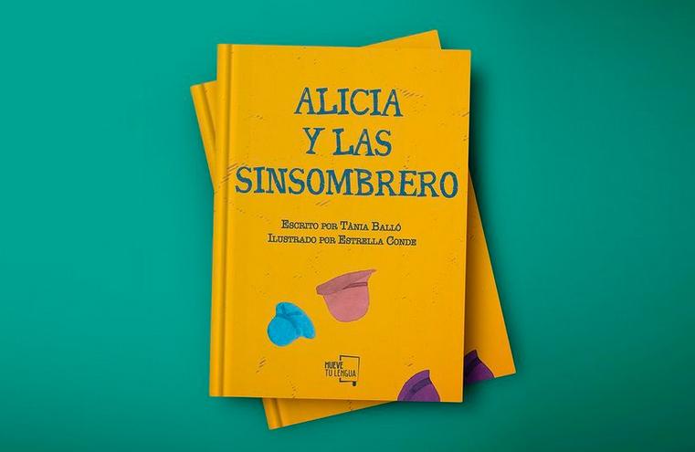 Diseño de cubierta 'Alicia y las Sinsombrero' (Mueve Tu Lengua)