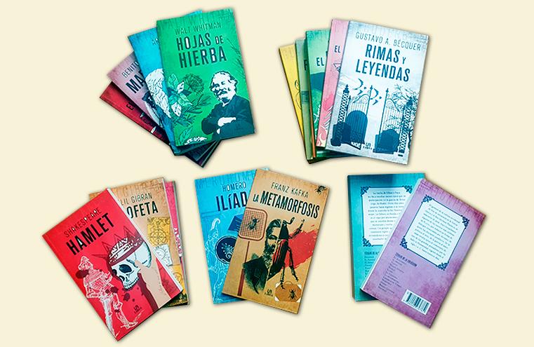 Diseño de cubiertas y maquetación colección 'Clásicos de la literatura' (LIBSA)