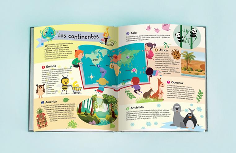 Maquetación - Ilustración libro 'Conocer el mundo' (Libsa)