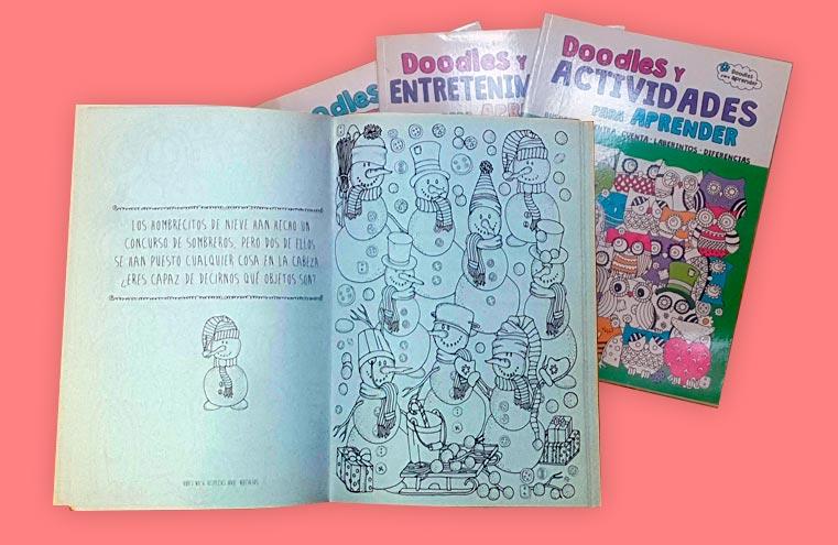 Maquetación colección 'Doodles y actividades para aprender' (LIBSA)